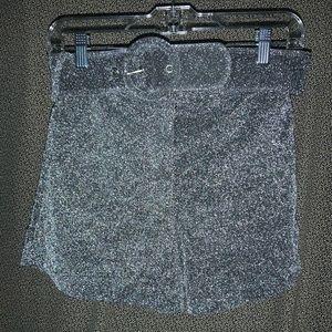STELEN Silver Glitter Shorts Size S